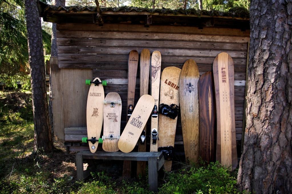 Skis, Snowboards, Skateboards, handmade in Finland